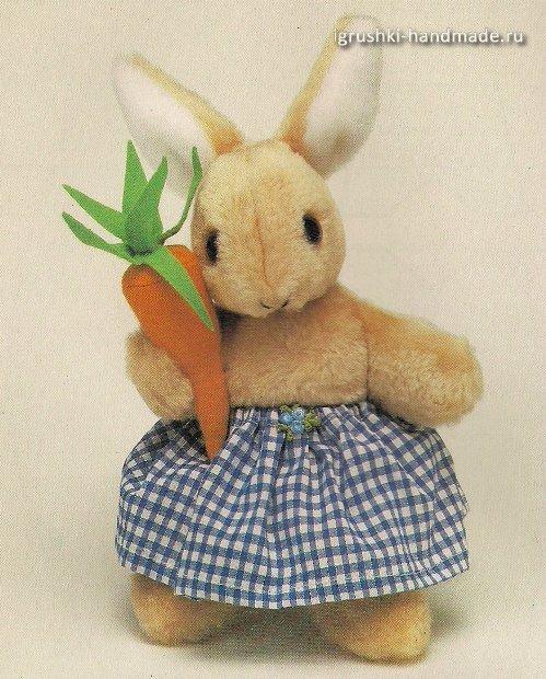 мягкая игрушка заяц с морковкой своими руками