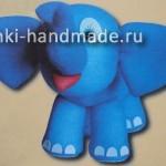 """мягкая игрушка """"Слон"""" из колготок своими руками"""