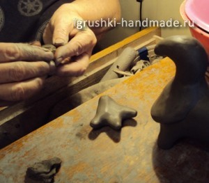игрушка из глины своими руками.Олень