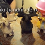 Как сделать глиняную игрушку-свистульку оленя. Мастер-класс Галины Арефьевой.