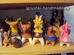 глиняная игрушка Галины Арефьевой