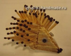 как сделать ежика из спичек своими руками