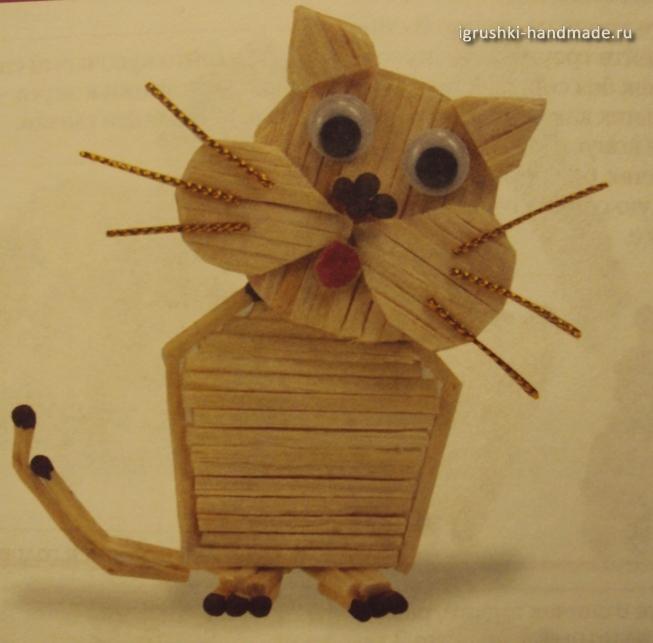 как сделать кота из спичек своими руками