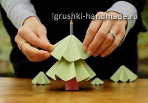 как сделать новогоднюю елку из бумаги своими руками
