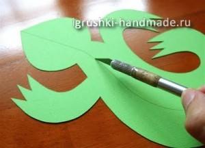 идеи оформления подарка своими руками,ящерица из бумаги