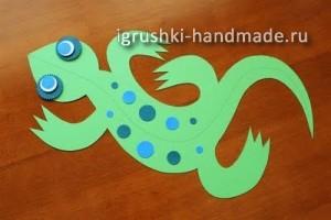 как сделать игрушку ящерицу из бумаги