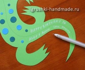как сделать игрушку ящерицу из бумаги своими руками