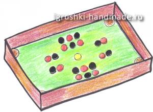 игра детский настольный бильярд своими руками