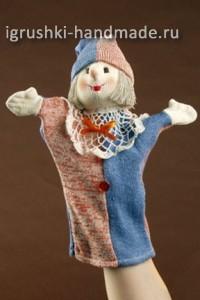 домашний кукольный театр, как сделать куклу Петрушку своими руками