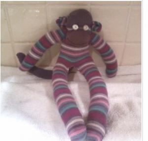 как сшить игрушки из носков, обезьянка своими руками