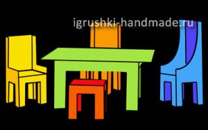 как сделать мебель для кукол из картона своими руками