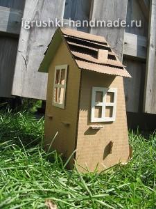 как сделать домик для кукол из картонной коробки своими руками