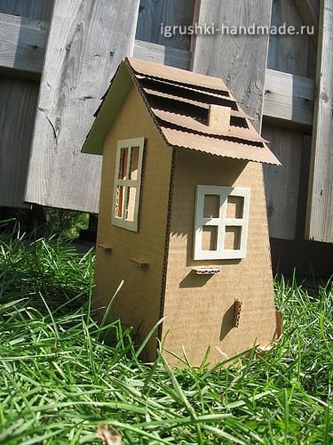Сделать домик из коробки или картона своими руками фото 583