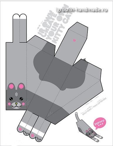 как сделать игрушку кота из бумаги своими руками