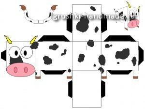 как сделать игрушку корову из бумаги своими руками