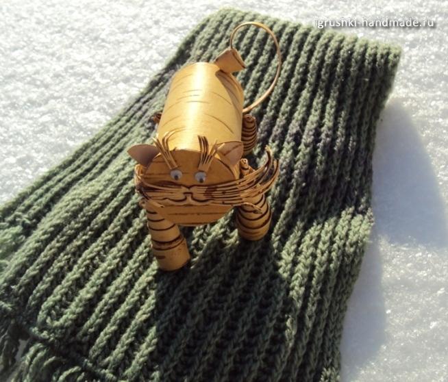 игрушка кот из бересты своими руками
