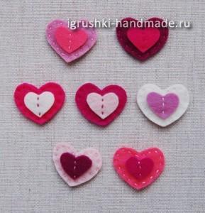 как сделать сердечки валентинки из войлока своими руками