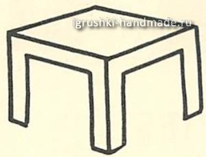 как сделать стол для кукол из картона своими руками