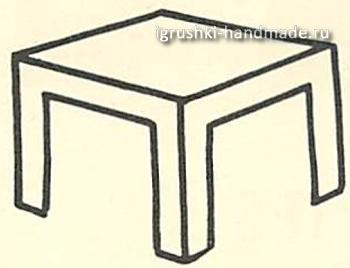 Как сделать для кукол стол своими руками