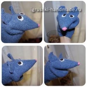 игрушка перчатка мышь из свитера своими руками