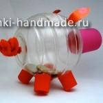 как сделать копилку своими руками из пластиковой бутылки