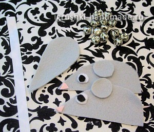 как сделать игрушки для кошки своими руками, мышка
