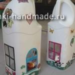 как сделать домик для кукол своими руками из пластиковой бутылки
