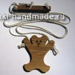 движущаяся игрушка из дерева своими руками, медвежонок акробат