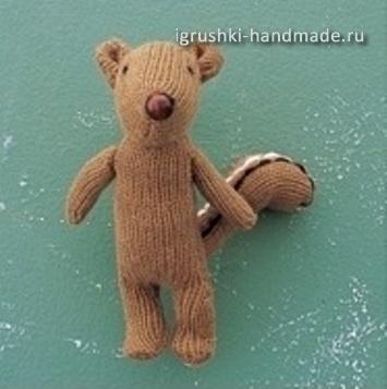 игрушка бурундук из перчатки своими руками
