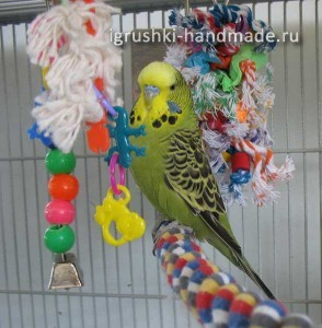 как сделать игрушки попугаю своими руками