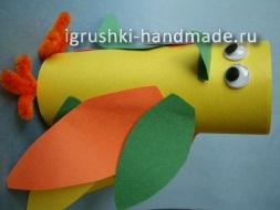 как сделать игрушку попугая из бумаги своими руками