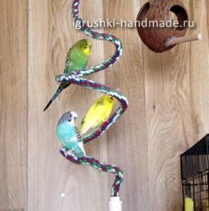 как сделать игрушки для попугая своими руками