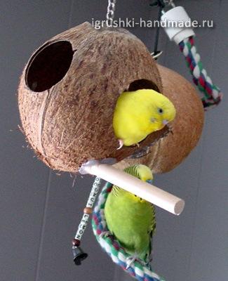 Как сделать игрушки для волнистого попугая своими руками фото 52