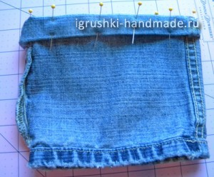 как сшить юбку для куклы из старых джинсов