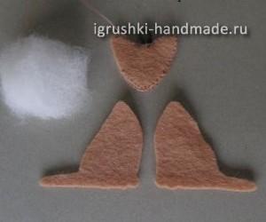 как сделать брелок из войлока своими руками выкройка