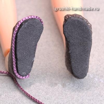 Как сделать обувь для кукол своими.