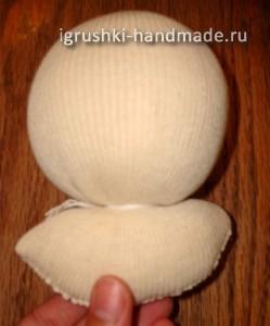 как сделать голову кукле из ткани