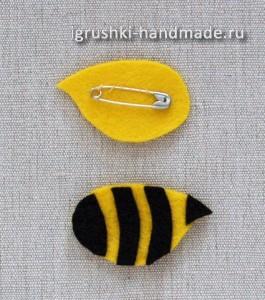 как сделать брошку пчелку для костюма своими руками