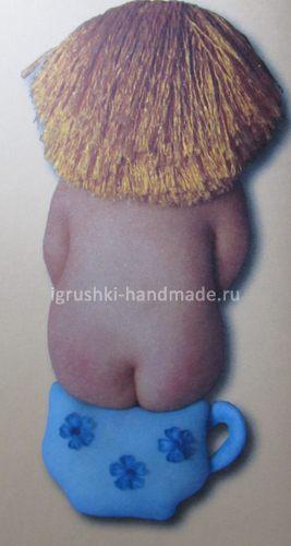 Девочка на горшке, мягкая игрушка из колготок | Игрушка своими руками