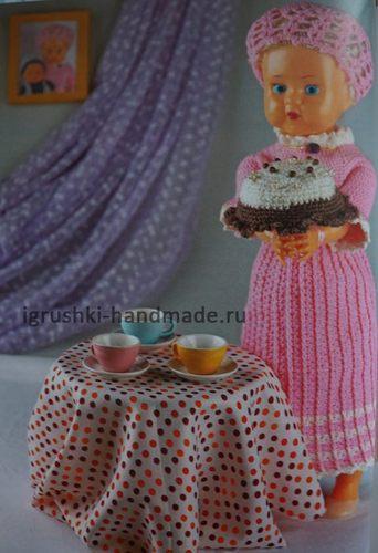 Вязаный торт для игрушек своими руками. Схема
