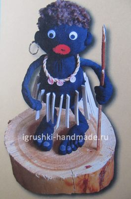 Мягкая игрушка Негритёнок Тумба-Юмба. Делаем своими руками из колготок