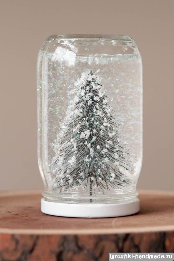 Как сделать шар со снегом новогодний