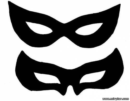 Как сделать карнавальную маску на глаза
