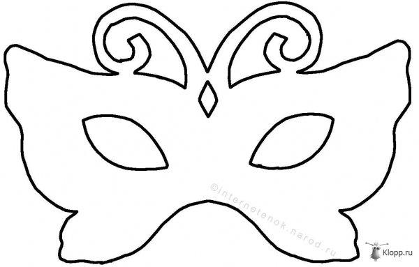 Карнавальная маска своими руками из бумаги шаблоны