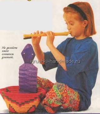 Необычная игрушка « Живая змея» своими руками.
