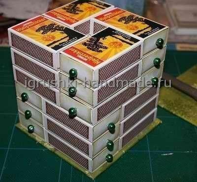Шкатулка из спичечных коробков своими руками