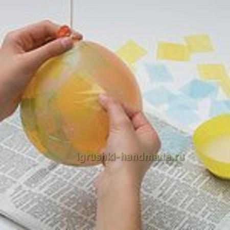 Как сделать яйцо из бумаги и клея пва