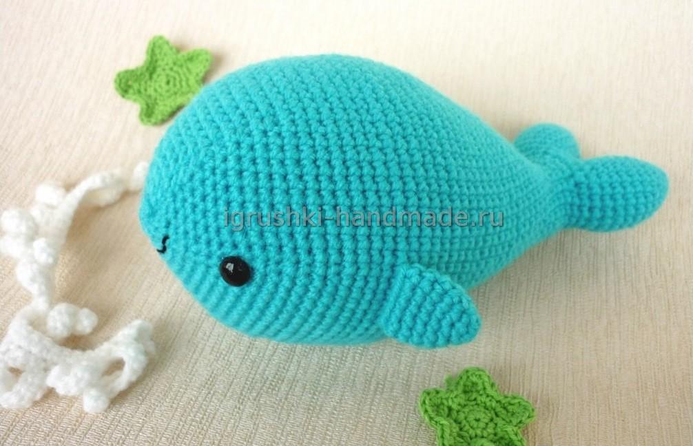 Игрушечный кит крючком