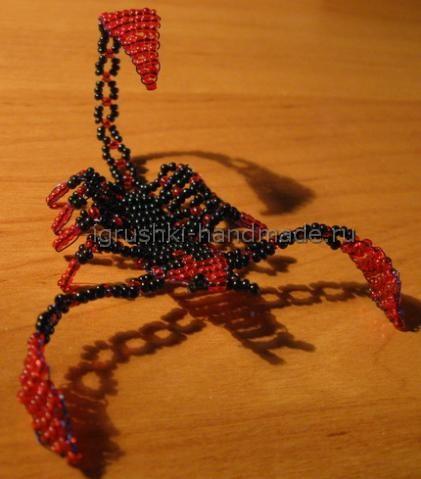 Делаем скорпиона из бисера