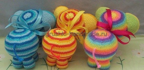 """Вяжем своими руками мягкую игрушку """"Радужный слон"""""""
